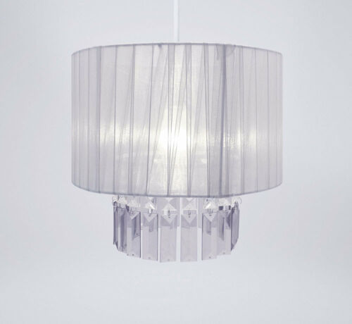 Modern chandelier style ceiling pendant light lamp shade acrylic modern chandelier style ceiling pendant light lamp shade acrylic droplet bead ribbon gem design stone mozeypictures Image collections