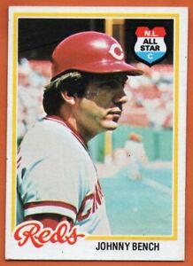 1978-Topps-700-Johnny-Bench-EX-EXMINT-Cincinnati-Reds-HOF-FREE-SHIPPING