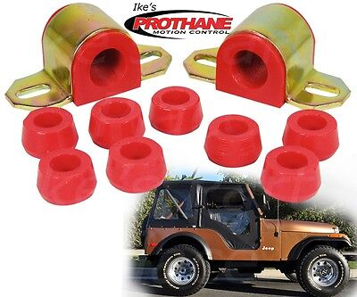 Prothane 1-1110 Red 7//8 Front Sway Bar Bushing Kit for CJ