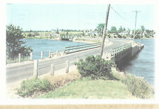 U S Highway 1A Between Milbridge & Harrington ME  Narraguagus Postcard 6163