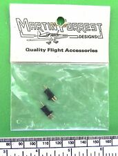 2 pin plug and socket for radio control and similar - Martin Forest/S.L.M. brand