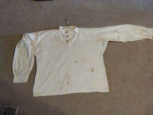 Civil-War-Soldier-Cotton-Men-039-s-Shirt-Handmade-wooden-buttons
