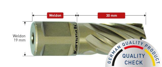Nutzlänge 30 mm Weldonschaft Gold-Line30 HSS-XE Kernbohrer