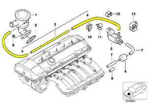 bmw e46 secondary air pump vacuum line 11727574490 ebay. Black Bedroom Furniture Sets. Home Design Ideas