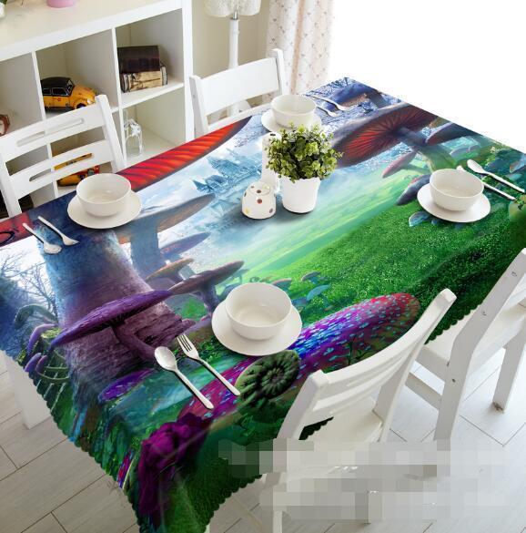 3D Mushroom 76 Tablecloth Table Cover Cloth Birthday Party Event AJ WALLPAPER AU