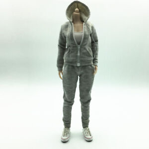 1//6 Scale Man Seamless Body Decoration Hoodie Sweatshirt for 12inch Hot Toys