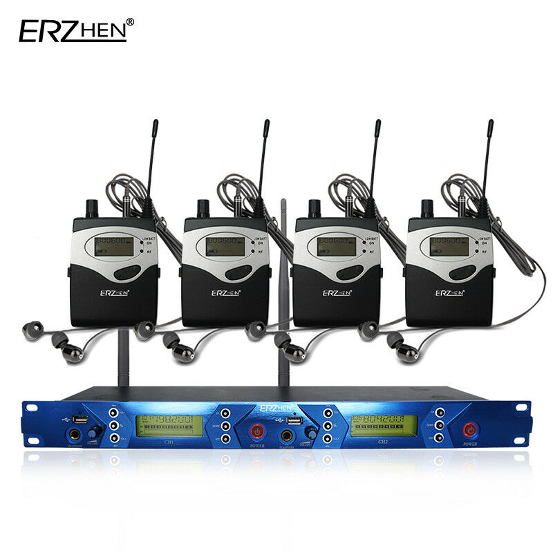 ERZHEN In Stage Ear UHF 798-830MHz Wireless Stage In Monitor System Receiver 3a8161