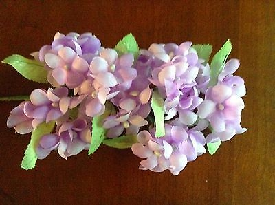 Vintage Millinery Flower Hydrangea Select White Blue Green Pink Wine or Lilac UD