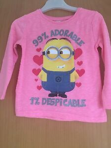 MINIONS Girls Long-Sleeved Top white white