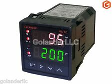 Dual Display Digital PID F/C Temperature Controller with 2 Alarm Relays,1/16 DIN