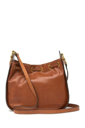 Details about  /NWT Frye Ilana Small Leather Hobo Crossbody Handbag Cognac or Taupe