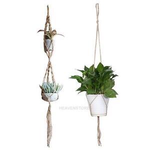 Home-Garden-Macrame-Plant-Hanger-Rope-Flowerpot-Holder-Gardenpot-Lifting-Decor