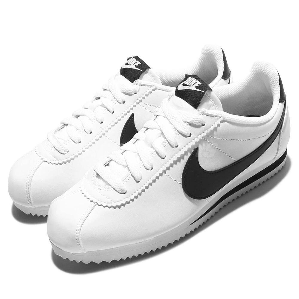 Chaussures Nike Leather Classic Blanc Cortez Noir Femme Wmns RtAqvv