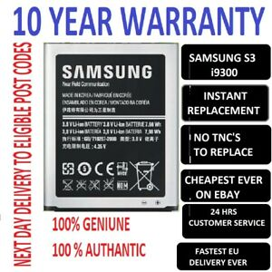 Genuine Battery For Samsung Galaxy S3 Gt I9300 2100mah Uk By Ss Ebay