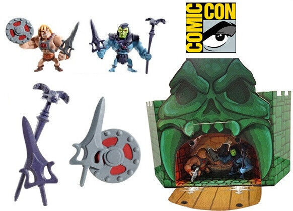SDCC 2013 MASTERS OF THE UNIVERSE CLASSICS MINI HE-MAN & SKELETOR SOLD OUT RARE