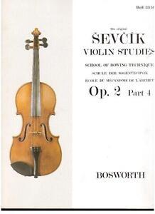 Sevcik: Studien Für Violine op.2 Teil 4 - Bosworth