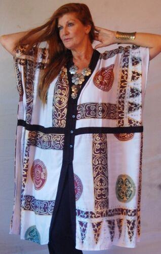 Jakke Zf141 Kimono L 1x Xl Sort Hvid 2x Batik 3x Os Plus 4x Button Trim M C5BxB