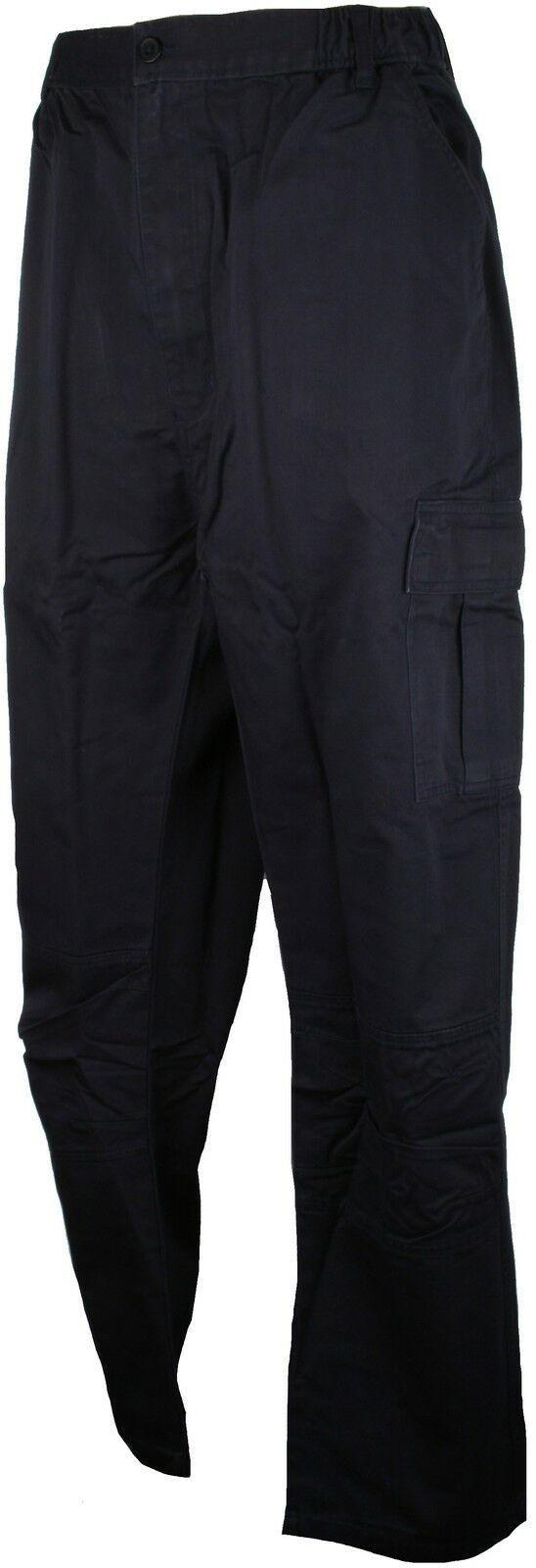 Perfect Collection Cotton Full Length Cargo Trousers 31  Leg Navy bluee