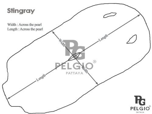 PELGIO Real Genuine Stingray Shagreen Skin Leather Soft Hide Pelt Black Grade A