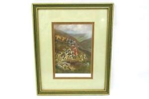 1920-039-s-A-Hill-Fox-By-Lionel-Edwards-Framed-Fox-Hunting-W-Dogs-And-Horses-Print
