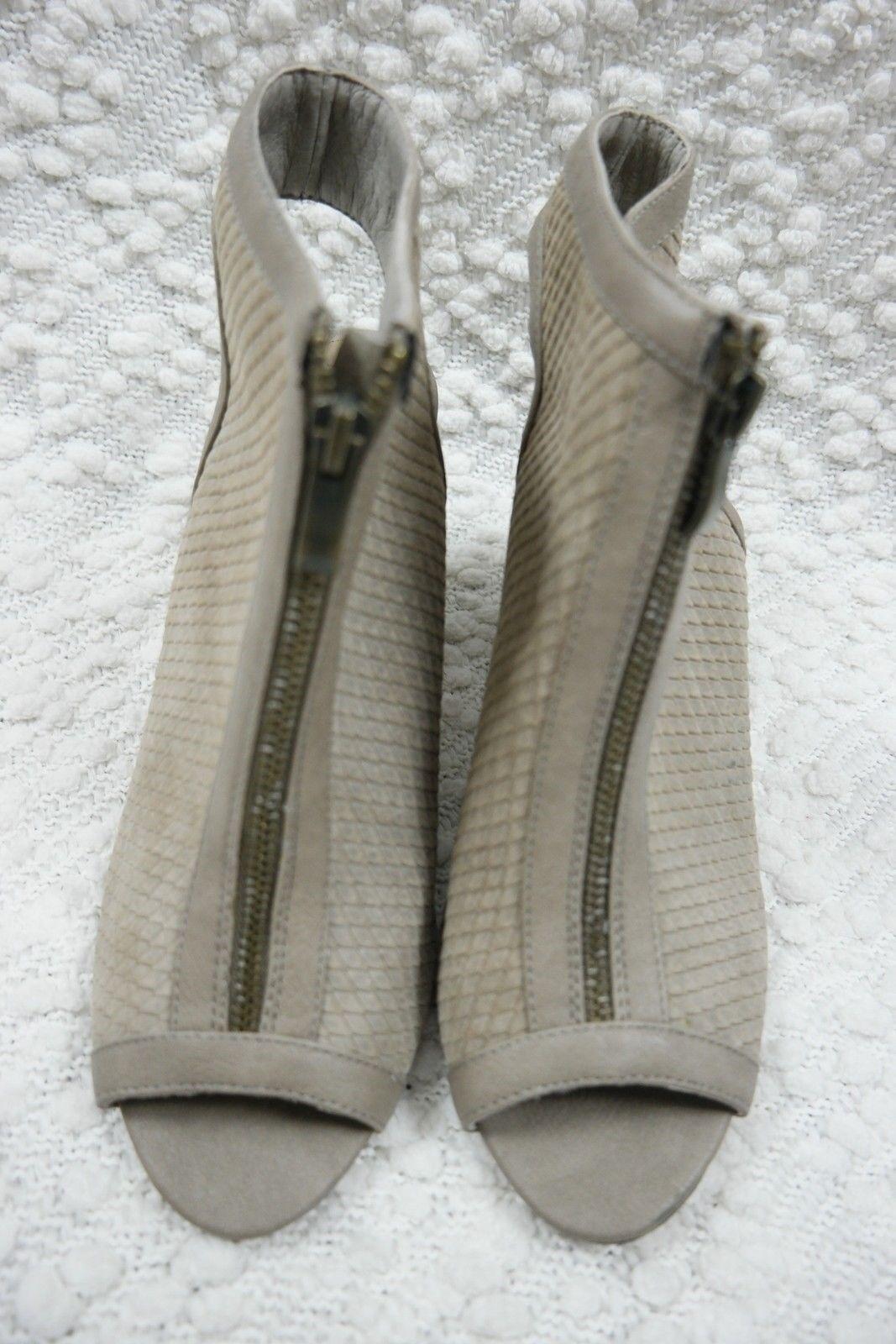 NUDE taupe 100% Leder tiger reptile bootie cube heels Größe 38EUR/7AU BNWT