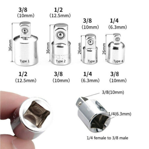 "3//8/"" to 1//4/"" 1//2 inch Drive Ratchet Socket Adapter Reducer Air Impact Kit"