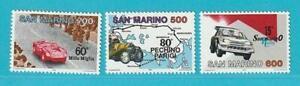 San-Marino-aus-1987-postfrisch-MiNr-1356-1358-Automobile