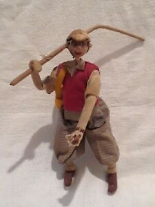 Vintage-Primitive-Cigar-Smoking-Fisherman-Folk-Art-Handmade-Fishing