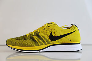 premium selection a1368 9ec48 Image is loading Nike-Flyknit-Trainer-Bright-Citron-Black-White-AH8396-