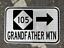 "DOT style GRANDFATHER MOUNTAIN NORTH CAROLINA Hwy 105 road sign 12/""x 18/"""