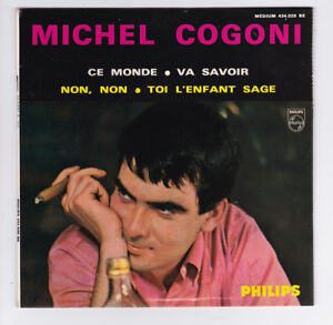 45-TOURS-EP-MICHEL-COGONI-CE-MONDE-PHILIPS-434-920-BE-en-1964-BIEM