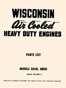 WISCONSIN-HACN-and-HBKN-Air-Cooled-Engine-Parts-Manual