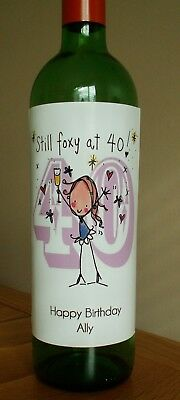 Any Message Personalised Ladies 30th Birthday Wine Bottle Label