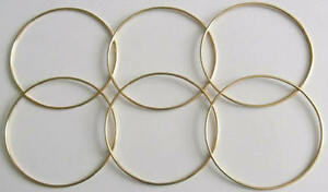 6-x-6-034-Brass-Coated-Dreamcatcher-Macrame-Craft-Hoop-Ring-amp-Free-Waxed-Cord