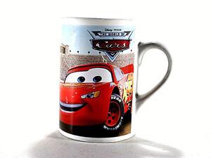 Disney Pixar 2008 Cars Coffee Cup Mug Lightning Mcqueen Plymouth