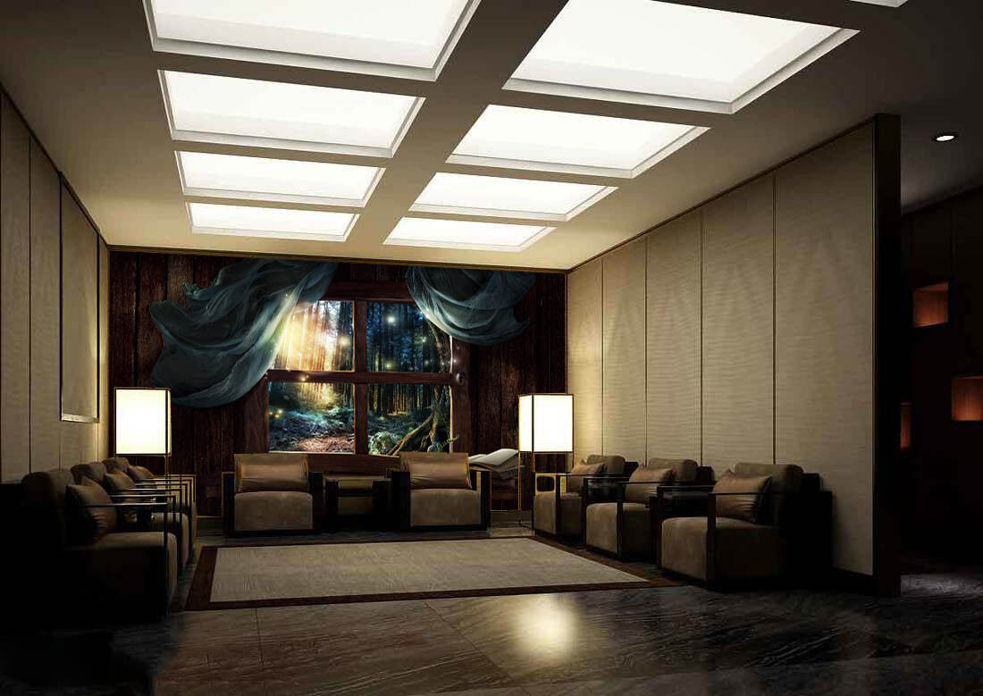 3D Window Forest Firefly Paper Wall Print Wall Decal Wall Deco Indoor Murals