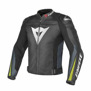 DAINESE-SUPER-SPEED-R-LEATHER-JACKET-MOTORBIKE-MOTORCYCLE-BLACK-YELLOW