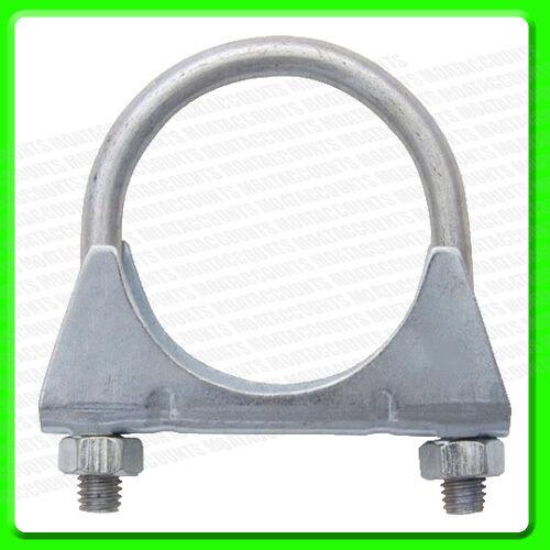 """65 mm Steel Twin Bolt /'U/' Exhaust Clamp 2 1//2/"""" PEC11C"""