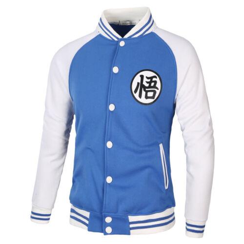 Varsity Baseball Bomber Veste Anime Dragon Ball Goku Sportswear Manteau Sweat