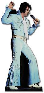 Sc-240 Elvis Presley En Bleu Jump Suit Hauteur 182cm Présentoir Carton