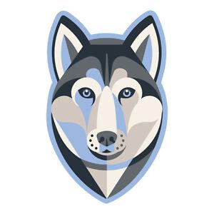 Details About Siberian Husky Sticker Die Cut Vinyl Huskies