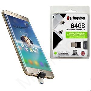 KINGSTON-64GB-USB-3-1-Speicherstick-OTG-MICRO-USB-Fuer-Ninetec-Platinum-10-G2