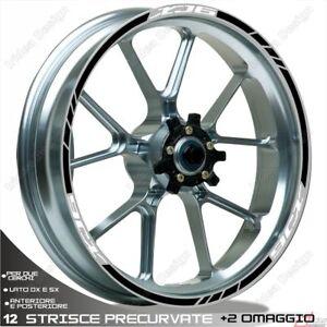 Ouvert D'Esprit Profili Cerchio Adesivi Sport Xj6 Compatibile Bianco Nero Les Consommateurs D'Abord