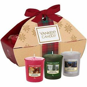 Yankee Candle Gift Set with 3 Scented Votive Candles ...