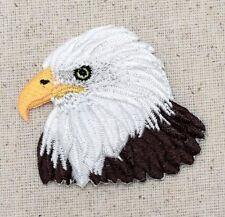 Iron On Embroidered Applique Patch Patriotic American Bald Eagle Head
