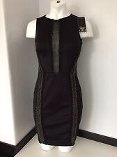 LIPSY FLAIR EAST Uk 10 38 NEW TAG £75 Dress Black Chain Body con Skinny Mini