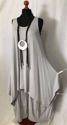MY OBSESSION Lagenlook A-Linie-Top-Tunika-Kleid Zwischenteil LILA  44,46,48,50
