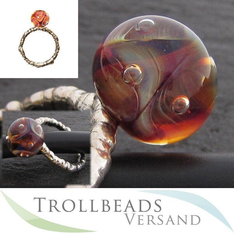 RETIRED - TROLLBEADS silver Ring mit Glaskugel Das Auge der Aphrodite Gr. 53