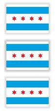 Chicago City Flags 3x Sticker for Truck Door Motorcycle Hard Hat Tool Box Fridge