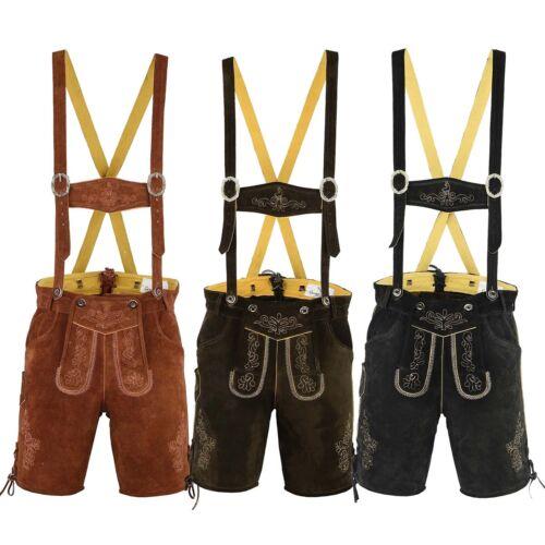 3x Couleurs Trachten En Bretelles Short En Daim Avec Lederhose Germanwear F8qfZn7Z
